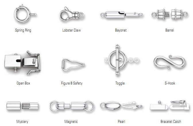 types of bracelet closures - Google Search