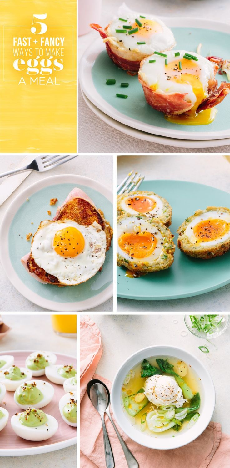 Eggs are good for you, but let's stop and talk about how luxurious they are. These five recipes show off the glamorous side of these yolky delights.