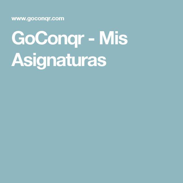 GoConqr - Mis Asignaturas