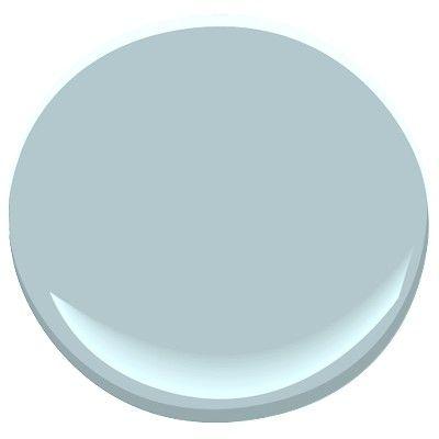 Benjamin Moore paint in blue porcelain