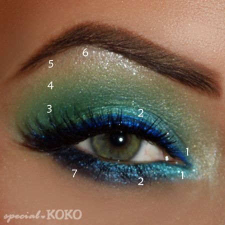 Fun Aqua Green Eye Makeup Look & how to. This will be my alien eye makeup for Halloween