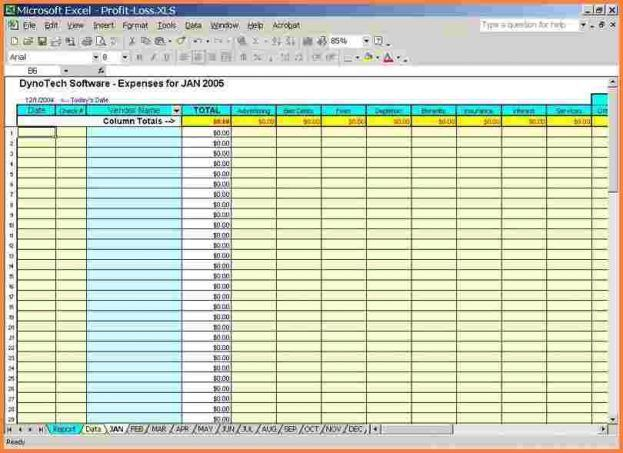 5 Business Expense And Income Spreadsheetexcel An Image Part Of