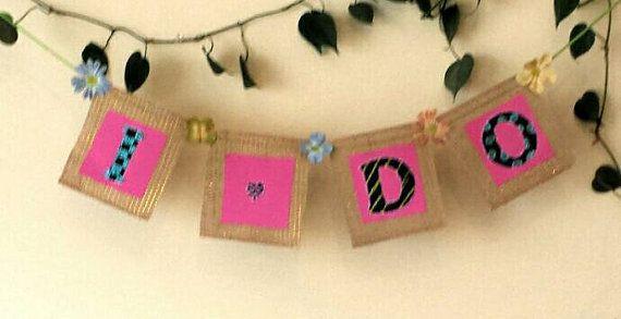 Burlap Bridal Shower Banner / I Do Bridal by BootsAndDirtRoads