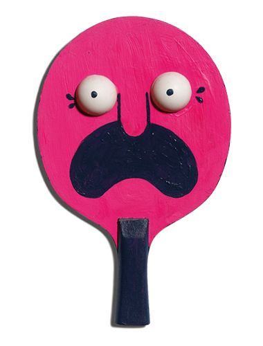 The Art of Ping Pong, racket designed by Rob Flowers