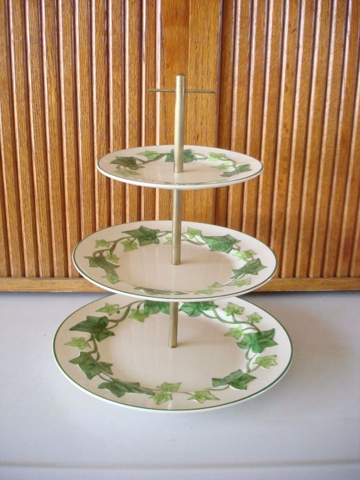 Franciscan Ivy 3 Tier Tidbit Serving Tray USA #Franciscan & 16 best Franciscan Ivy images on Pinterest | Hedera helix Ivy and ...