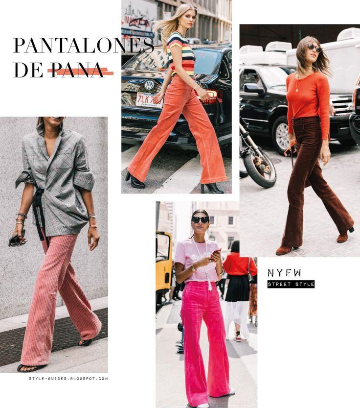 NYFW street style trends fashion - Pantalones de pana