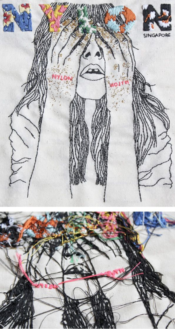 Izziyana Suhaimi  loving the mix of portraiture and embroidery