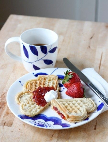 Norwegian heart waffles (Vaffler) from Food52
