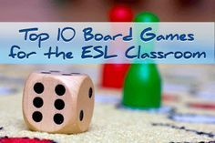 Top 10 Board Games for the ESL Classroom with instructions. Resembles popular games