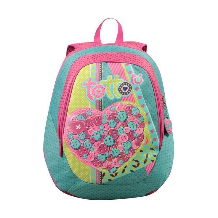 Mochila Capori modelo 4vp marca totto, una mochila escolar de gran calidad, Tottto es uno de los mejores fabricantes de mochilas del mercado
