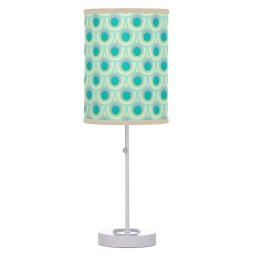 Peacock feather pattern teal lamp shade. Pattern art and design by www.sarahtrett.com