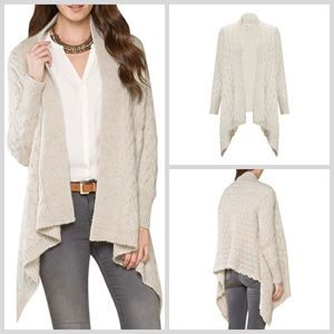 Picture of Monsoon Winter White Waterfall Wool/Alpaca Blend Cardigan RRP £69 - yours for £45