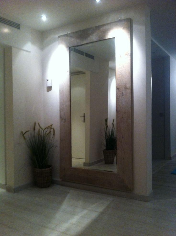Mega steigerhouten spiegel