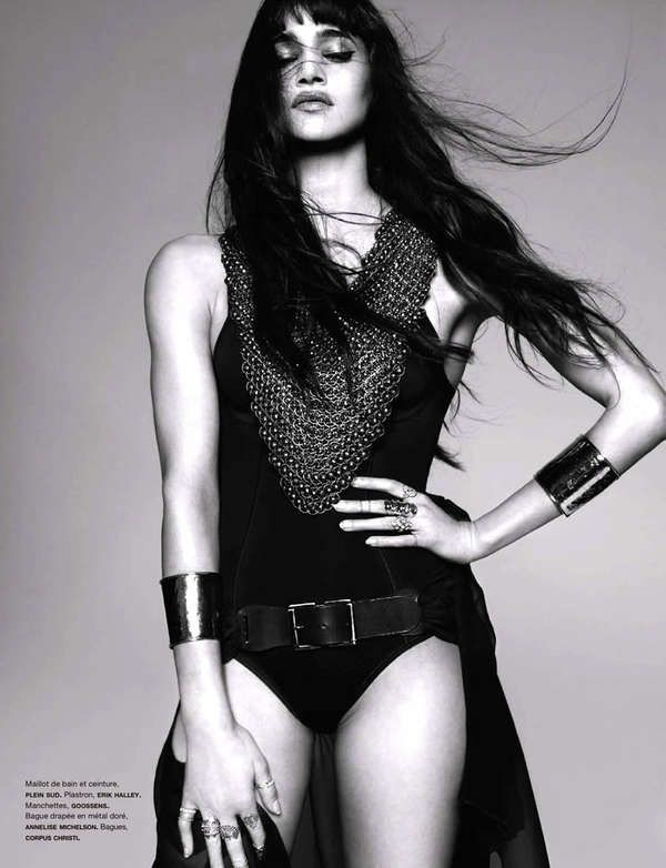 Haute Dominatrix Editorials - Model Sofia Boutella Looks Fierce in Numero February 2013 (GALLERY)