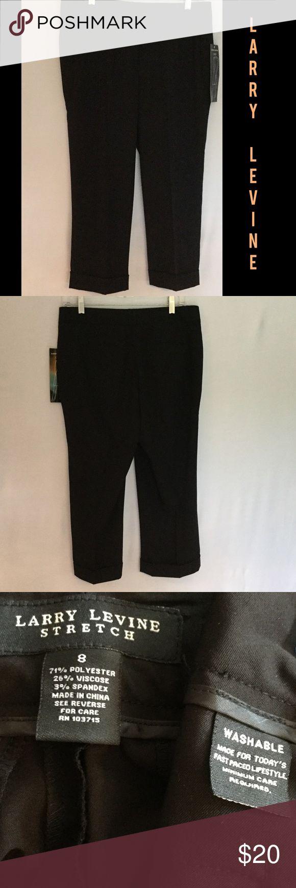 Larry Levine Crop Dress Black Capri  Larry Levine Black Dress Cropped Pants. Brand New with Tags Larry Levine Pants Capris
