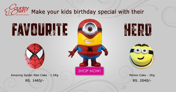 Make it an awesome birthday party for your kids by choosing cakes with their superheroes on top! #Cakes #Kidscakes #Birthdaycakes