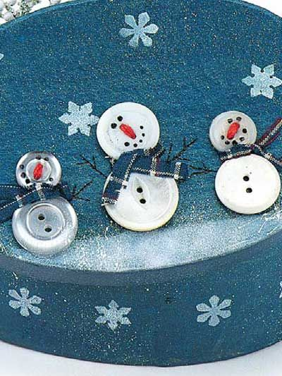Free Snowman Patterns | just LOVE these button snowmen, what a cute idea! They are used to ...