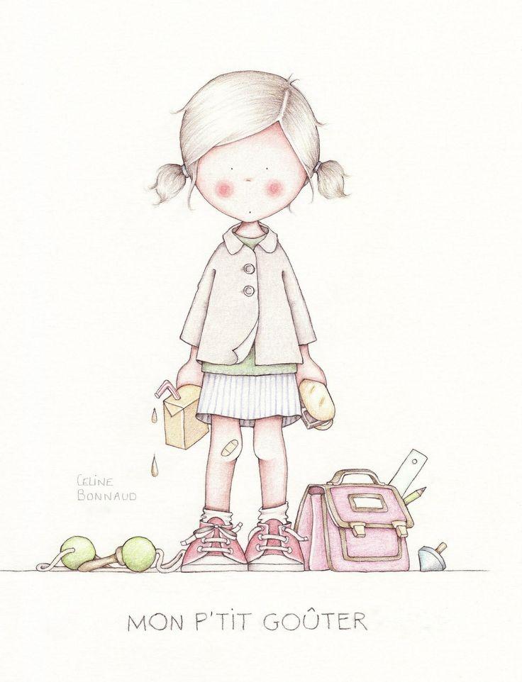 Celine bonnaud illustrations pinterest celine - Dibujos para decorar habitaciones de bebes ...