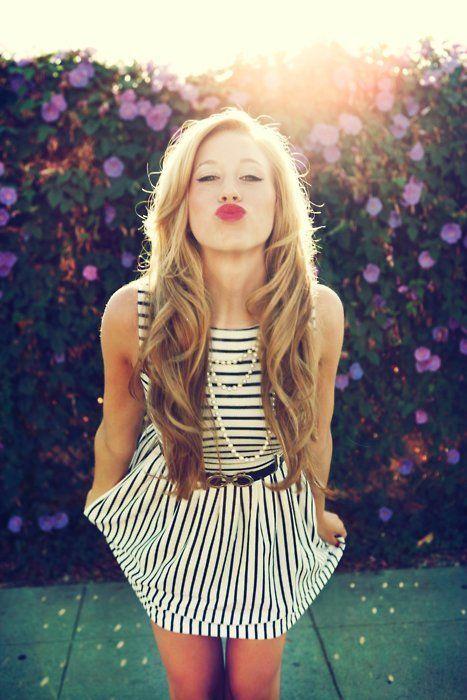 hairRed Lipsticks, Hair Colors, Black And White, Long Hair, Hair Makeup, Black White, Stripes, The Dresses, Redlips