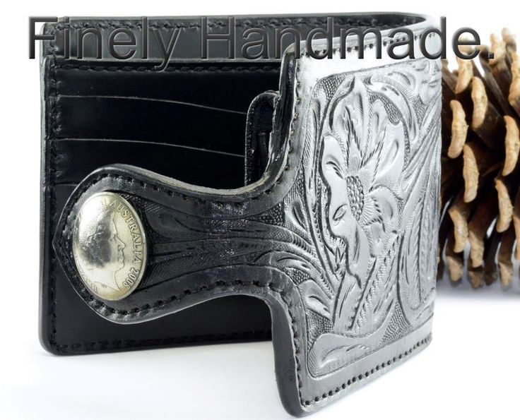 7CW-050 Finely Handmade Genuine Cow Leather Tooled & Carved Men Wallet…