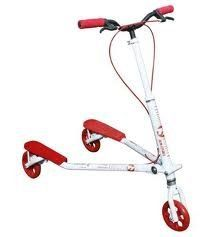 T7 Kids White/Red by Trikke. $179.99. Trikke T7K Kids Scooter 3 wheel from AbleandActive.com. The Trikke Tech T7 carving scooter is a fun and unique twist on the classic design. It builds agility, balance, and coordination, and its three-wheeled design is extra secure. It can be ridden like a normal scooter, or riders can propel it using its innovative carving mechanism for great physical fun. Learning comes quicker on the polyurethane wheels when ridden on smooth pavement....