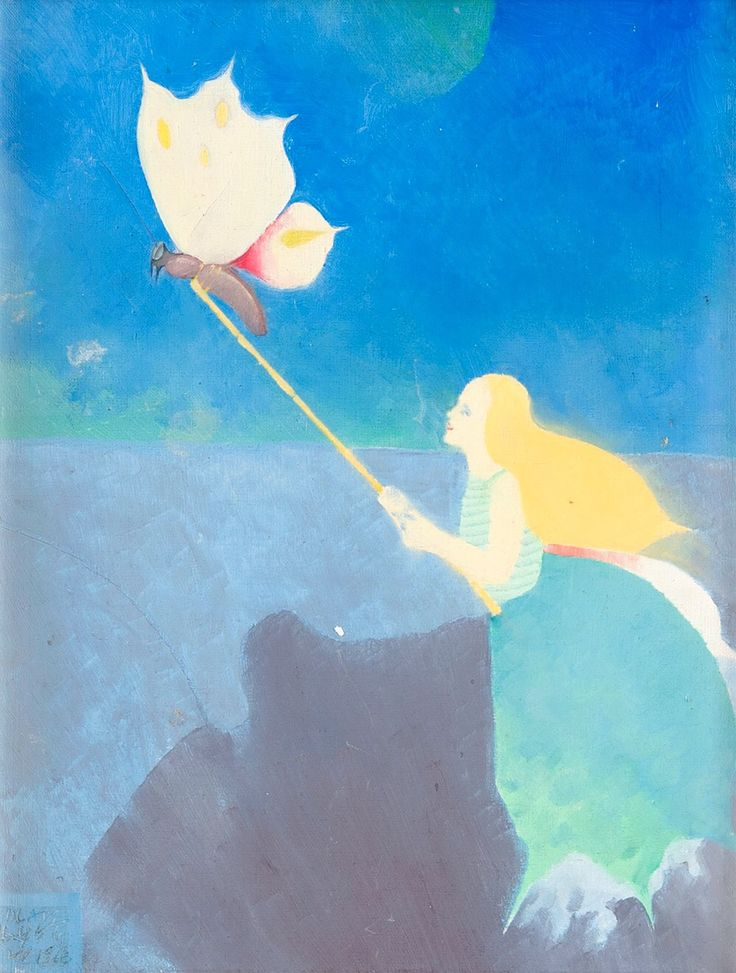 Madame Butterfly of Dreams, 1968. Olli Lyytikäinen. Oil on canvas