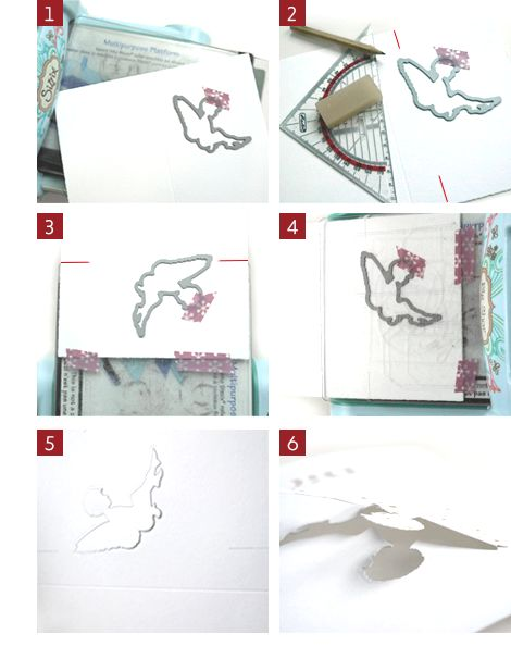 DIY: Dies halb ausstanzen und somit einen schönen 3D-Effekt kreiieren.