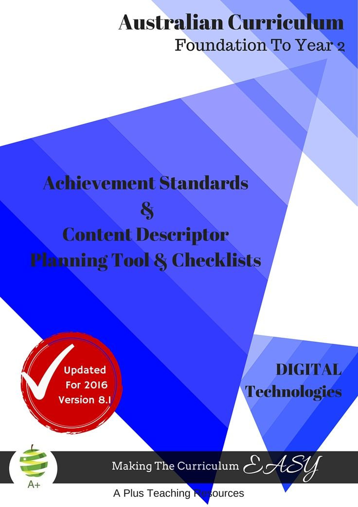 The Australian Curriculum Design & Technologies Content & Achievement Standards Trackers describe what students should typically be able to do, know and understand by the end of the year. $3.75 for 25 pages!