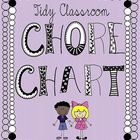 "Want to keep your classroom tidy this year? Enlist your little helpers with the ""Tidy Classroom Chore Chart"" This is a 54 page  PDF$"