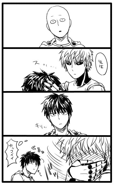 Genos. ..I feel you bro. He looks hotter with hair blush*