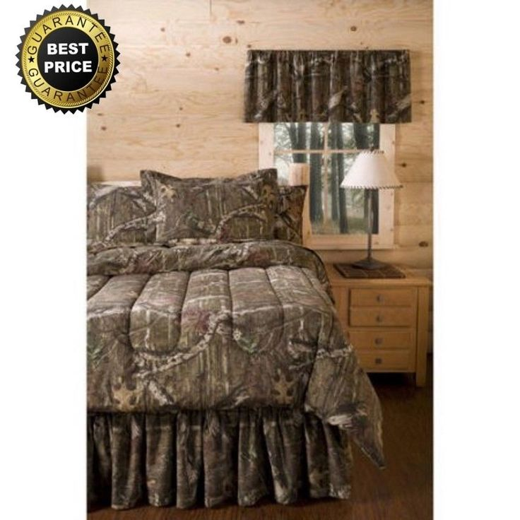 Mossy Oak Infinity Bedding Comforter Set Queen Size Camouflage Hunters NEW #MossyOak #Country