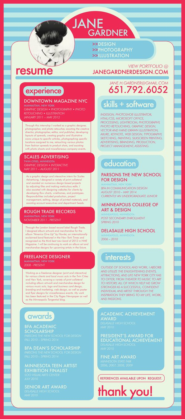 Best Cv Examples Images On   Creative Curriculum