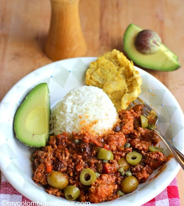 This classic Cuban ground beef dish is quick and easy, and is great over rice. It can also be used as a filling for tacos or empanadas|mycolombianrecipes.com
