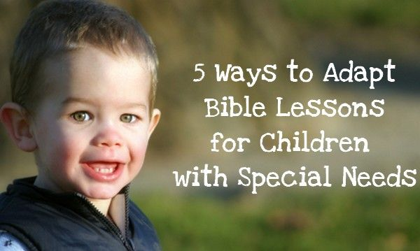 How to make your children's ministry curriculum more inclusive for kids with special needs.