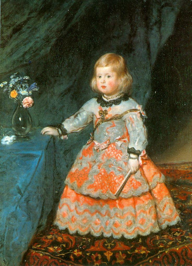 Diego Velazquez, Portrait of infanta Margaret #baroque #art #painting