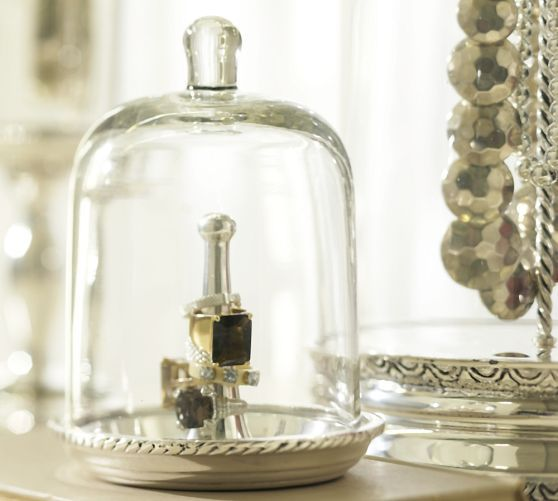 78 Best Glass Cloche Jewelry Storage Images On Pinterest