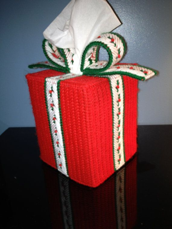 Traditional Christmas Present Tissue Box by HandcraftedHolidays, $13.00