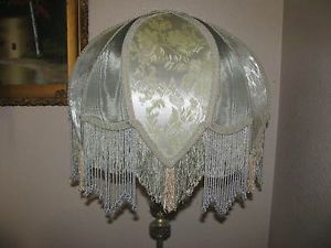 Victorian French X Large Floor Table Lamp Shade Rosalee Beads Fringe
