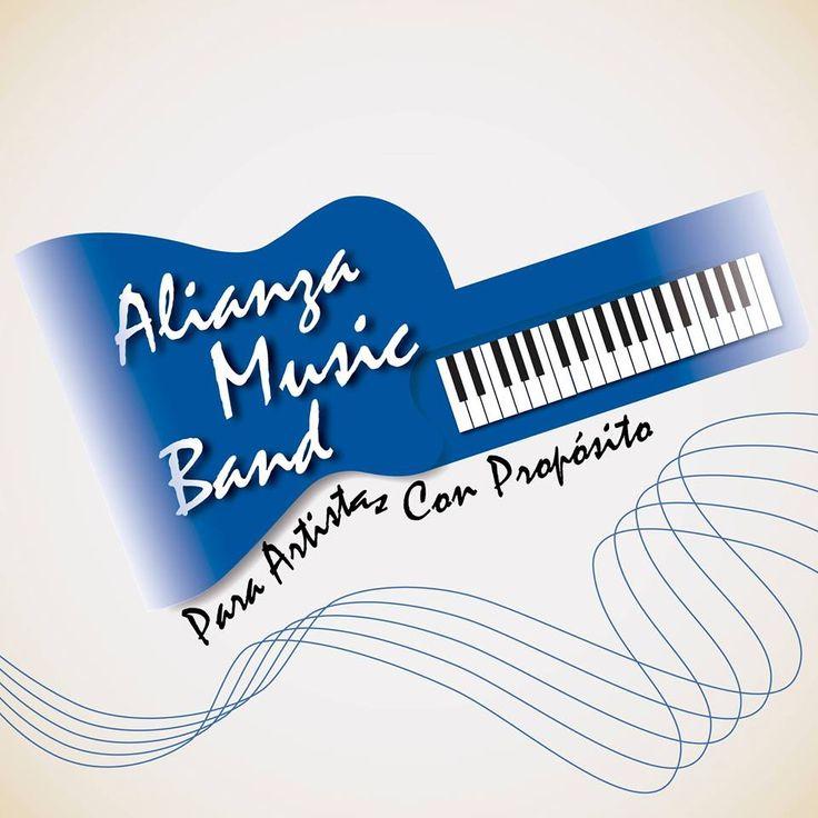 Diseño de Logo para Alianza Music Band Angiee Padilla© 2017 todos los derechos reservados. #Diseño #Logo #Musica #Music