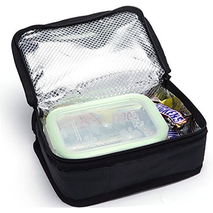 MIER Black Thermal Boys Lunch Bag Insulated Cooler Kids Lunch Container Portable #M01145L2JM