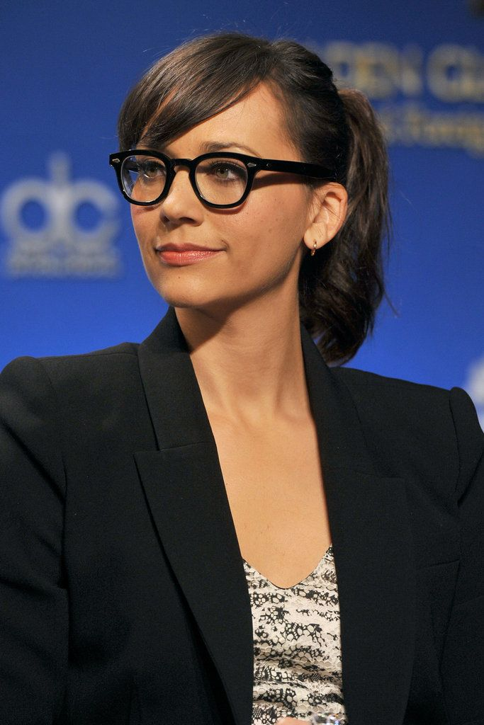 Davis Vision – We love Rashida Jones' geek-chic look. #eyeglasses