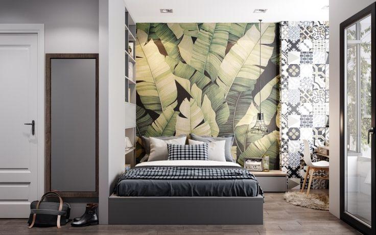 Oltre 25 fantastiche idee su carta da parati per camera da letto su pinterest tappezzeria a - Carta da parati parete letto ...