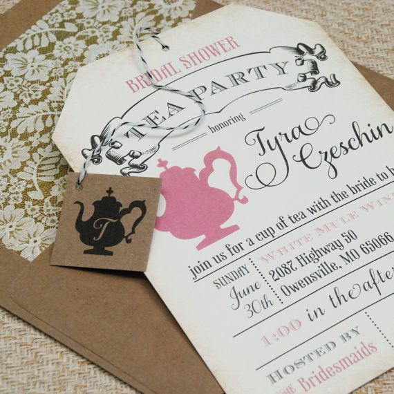 Convite de Chá da tarde #casamento #cha