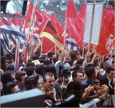 Staatsbesuch Erich Honecker 1974 in Kuba / Cuba - Empfang