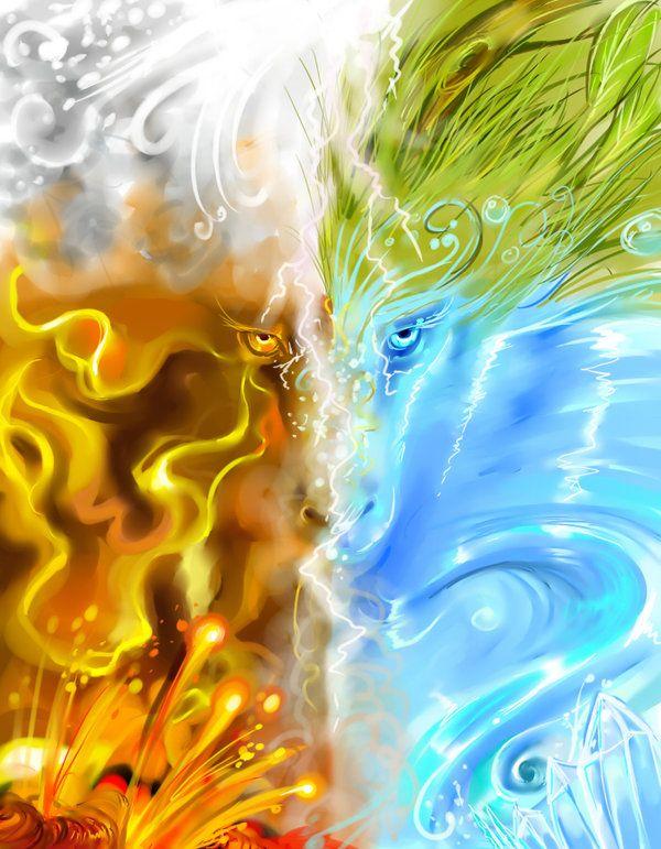 вода огонь земля картинки такое