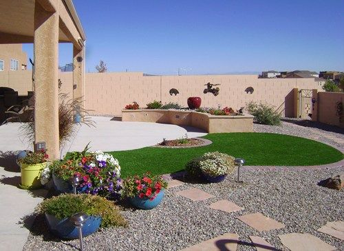 Backyard Desert Landscaping Ideas trendy backyard landscaping ideas for small yards design your home for backyard ideas for small yards Low Water Landscaping Photos Low Maintenance Backyard Small Curve And Round Of Grass And Surrounded