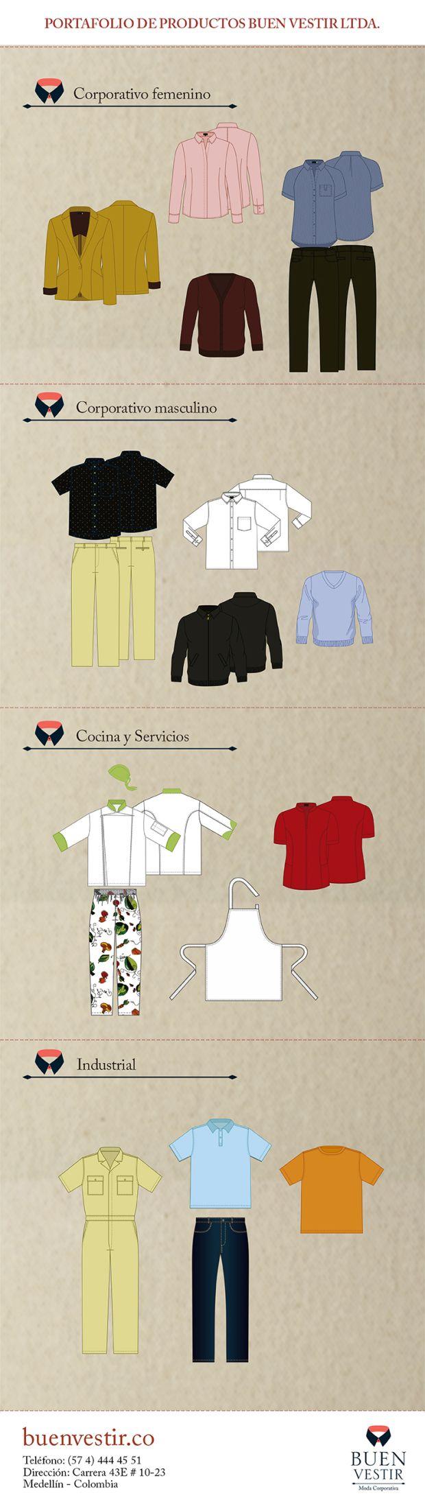 Buen Vestir, Moda Corporativa, Productos, portafolio