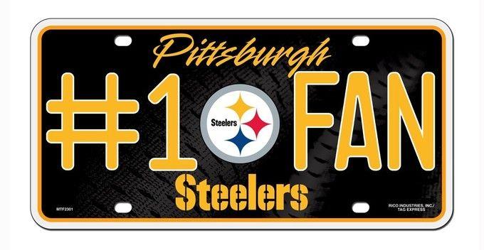 Pittsburgh Steelers License Plate - #1 Fan Z157-9474630888