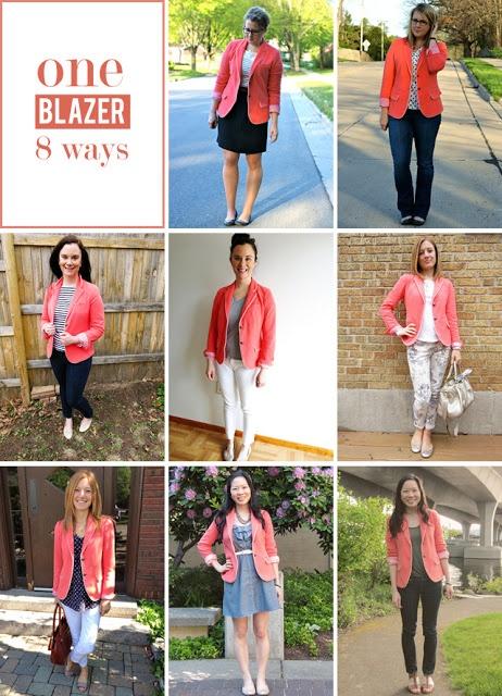 one @Gap blazer, 8 different ways to wear it! @Alex Leichtman Jantzen - ideas for your coral blazer!!!!!!!!!! :)