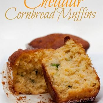 Jalapeno Cheddar Cornbread Muffins (I used to make cornbread like this at a restaurant - I hope this ends up tasting similar)